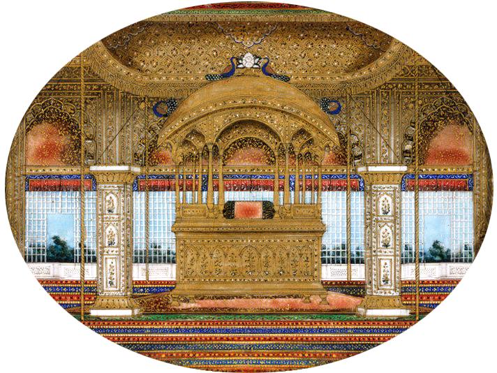 Павлиний трон, изображение 1850 год