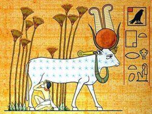 Нут в образе небесной коровы